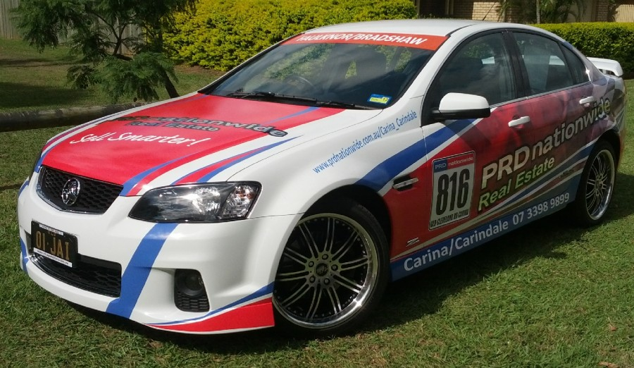 Vehicle Wraps – Half Wraps – North Brisbane.