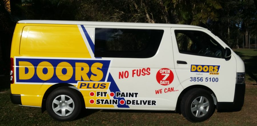 Van Wrap – Doors Plus – Stafford Qld