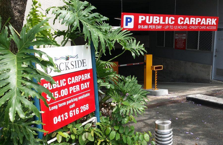 Car Parking Signage – South Brisbane – Dockside
