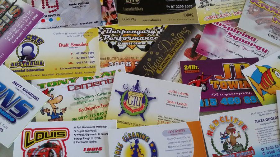 Business Cards – Brisbane, Sunshine Coast. Qld
