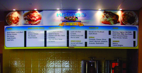 Menu Boards – redcliffe – brisbane – sunshine coast