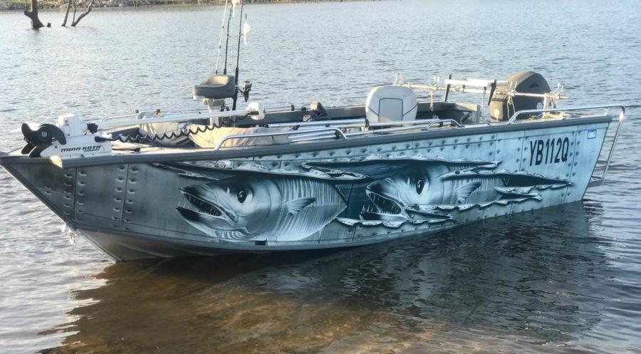 Sunshine Coast And Brisbane Boat Wraps Linehouse Graphics