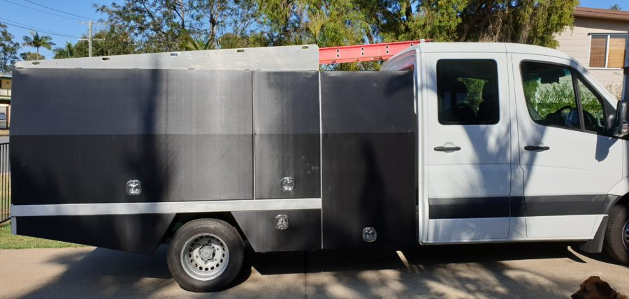 Truck/Utility Tool Box Wrapping – Carbon Fibre. Brisbane and the Sunshine Coast.