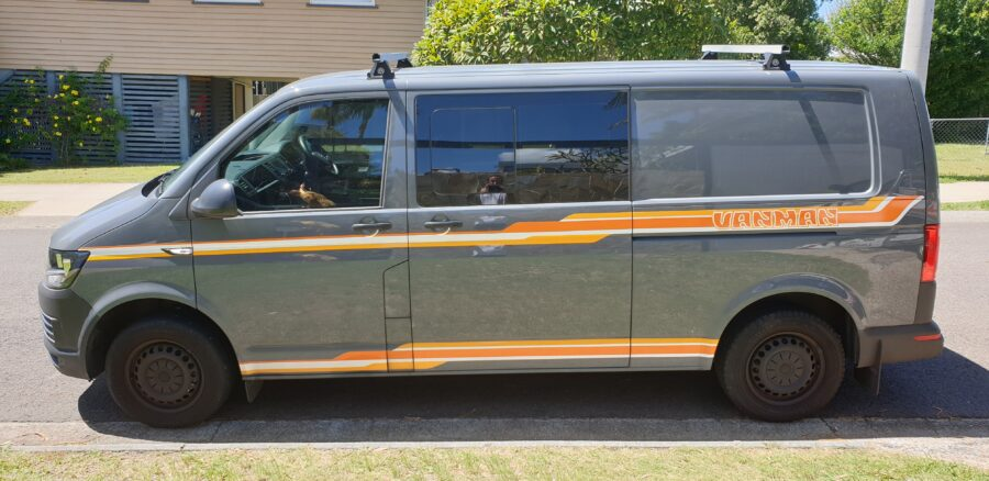Custom Van Graphics – Moffat Beach, Sunshine Coast.