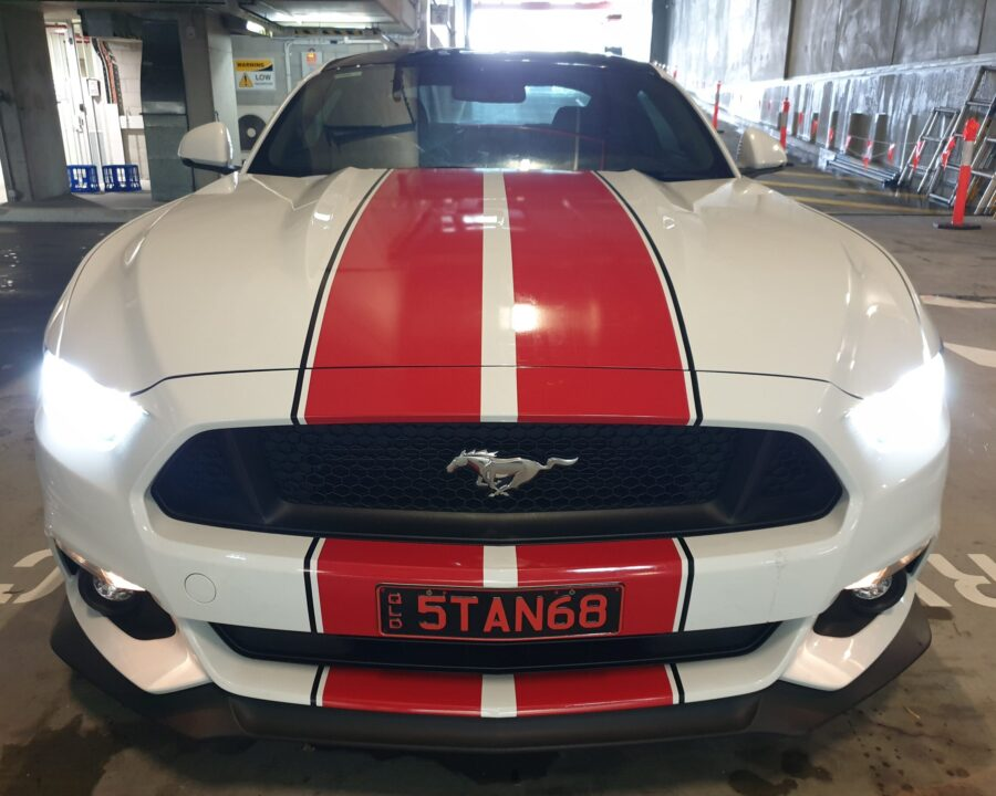 Mustang Racing Stripes – West End Brisbane Qld